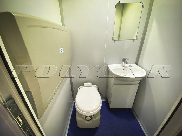 Туалет мобильного офиса.