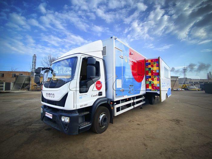 Мобільний центр надання адміністративних послуг на базі Iveco Eurocargo.