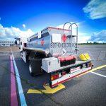 Топливозаправщик с цистерной объемом 4 куб. метра.