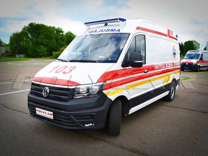 Автомобиль скорой помощи производства Polycar.