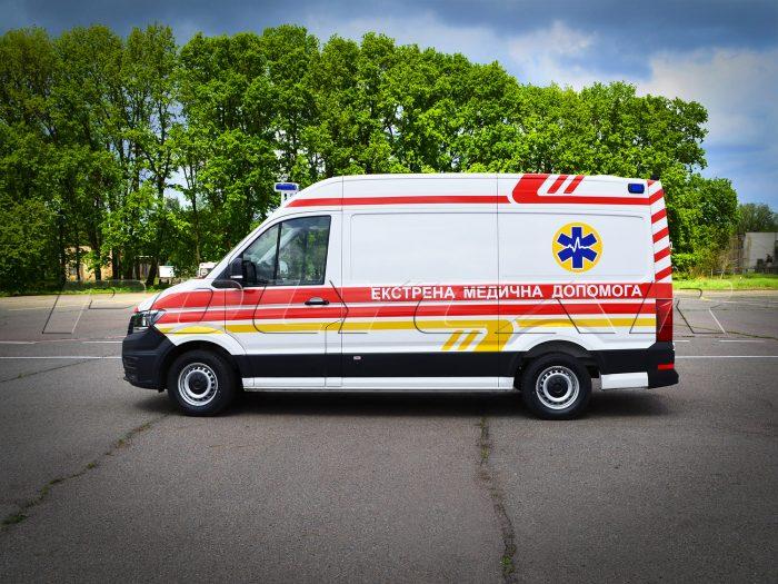 Автомобиль скорой помощи Volkswagen Crafter.