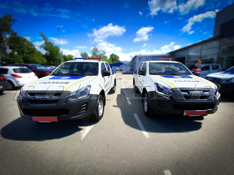 Партия специализированных пикапов Isuzu D-Max для Национальной полиции.