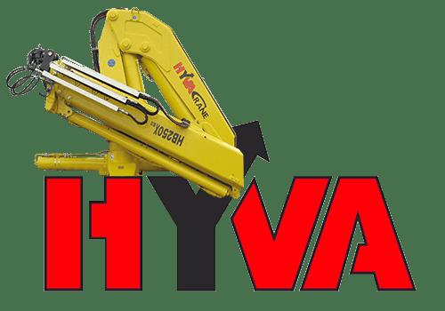 Крано-манипуляторная установка Hyva HB 250 с грузоподъемностью до 5,8 тонны.