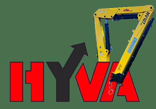 Hyva HV 107 кран-манипулятор.